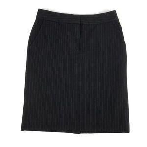 Issac Mizrahi Pencil Skirt Black pinstriped Sz 4